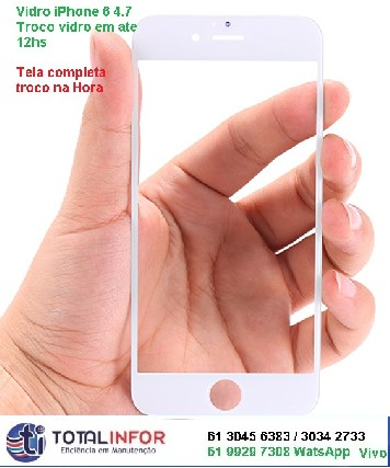Assistancia apple brasilia iphone vidro bateria